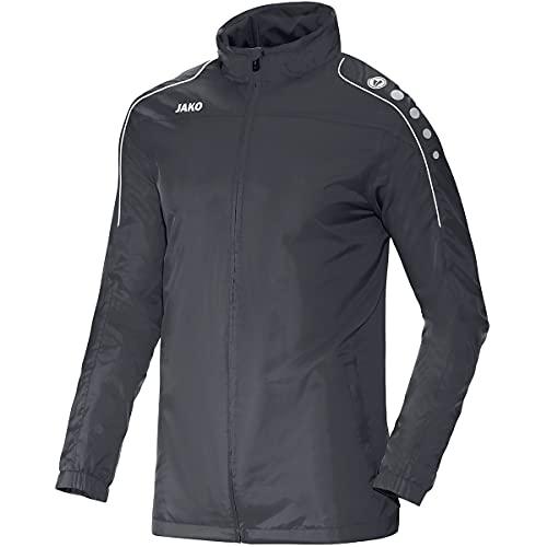 JAKO 100% Polyester Chaqueta Motion para todo tipo de clima, gris, S-M Unisex Adulto
