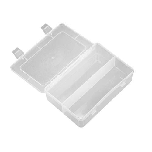 Lurrose 2pcs en plastique transparent affaire outil organisateur boîte maquillage boîte cosmétique organisateur bijoux boucle d'oreille boîte pour la maison magasin