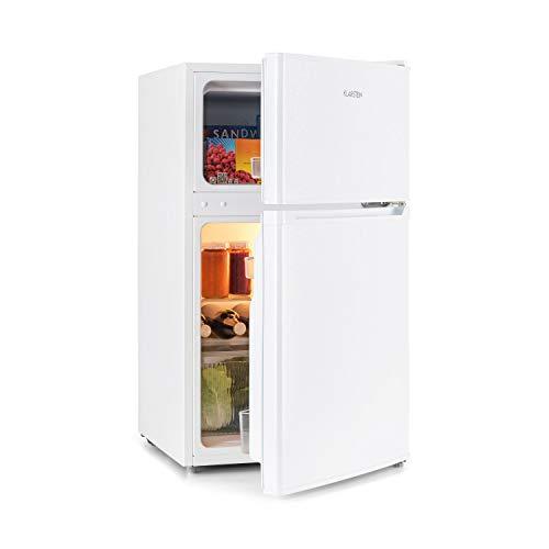 Klarstein Big Daddy Cool – combinación nevera-congelador, Congelador encima, silencioso, eficiencia energética de clase A+, 83 L de capacidad, nevera de 61 L, congelador de 22 L, blanco