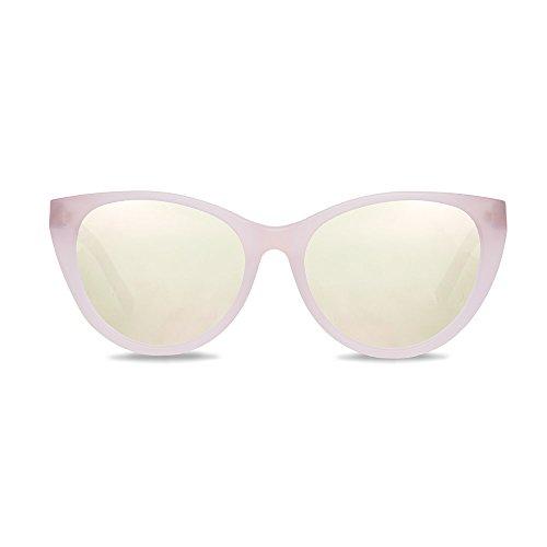 KERBHOLZ® Martha, handgefertigte Sonnenbrille aus Edelholz + Schlüsselanhänger, weiß rosa (Peach White Birch)