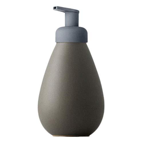 Soporte para jabón de manos y líquido para platos Botella de loción desinfectante for las manos que hace espuma dispensador de la bomba de mano dispensador de jabón Cerámica dispensador de jabón de es
