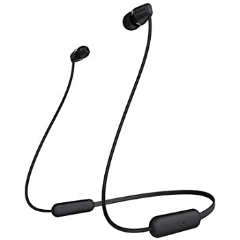 (Renewed) Sony WI-C200 Wireless Neck-Band Headphones with up to 15 Hours of Battery Life - Black