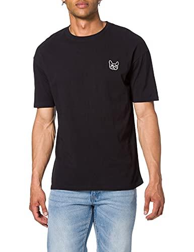 Jack & Jones JJAARHUS tee SS Crew Neck Camiseta, Black, XL para Hombre