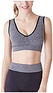 Fbnzmluqyjsy Yoga Tops Sports Bras,U Back Yoga Bra,Breathable Wire Free Sleep Sports Top,Seamless Gym Running Fitness Spor...