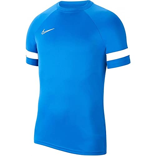 Nike Y Nk Dry Acd21 Top SS Maglia a Maniche Corte, Game Royal/White/White/White, 7-8 Anni Unisex-Bambini