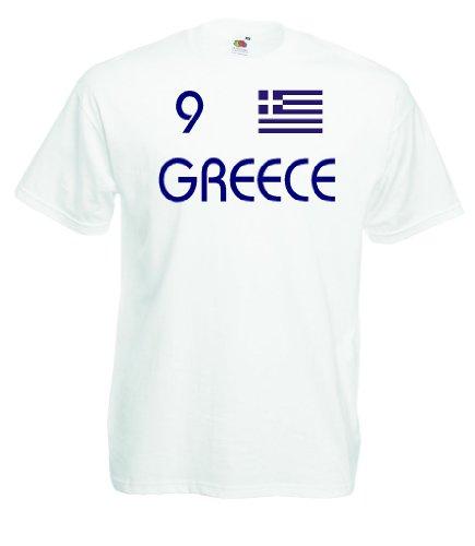 Griechenland Greece Herren T-Shirt Nr.9 Trikot w-Xxxl