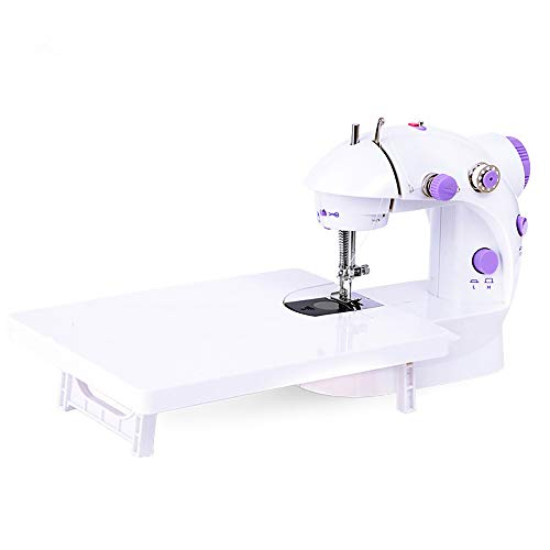 Best Deals! WANGLXST Portable Sewing Machine Multifunction Household Double Thread Double Speed, Sewing Machinel with Extension Table, Easy to use, White