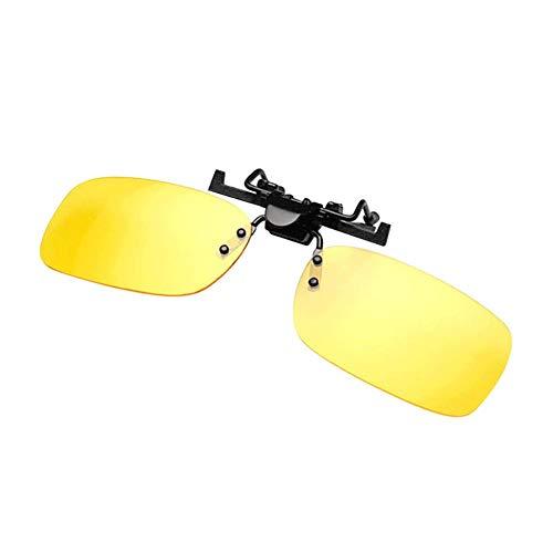 Urbenlife Zonnebril, clip, gepolariseerd, clip, gepolariseerde clip, voor outdoor-activiteiten Klein nachtgeel