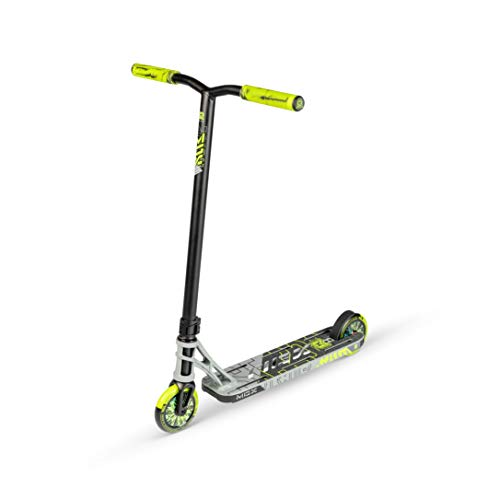 MADD MGP Gear MGX Freestyle Stunt Scooter Pro - Patinete para acrobacias, color gris y verde