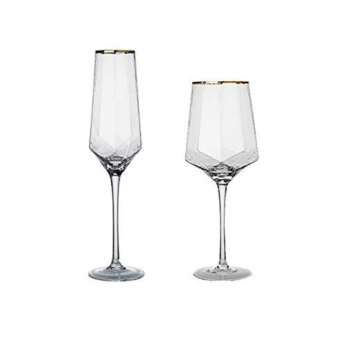 Cristal Premium - Cata de vinos Juego de copa de vino rojo grande de cristal de vidrio de tallo largo, indestructible Personalizado Moderno Boda Partido Camping Tinto Vino Copa de Vidrio Champagne Cha