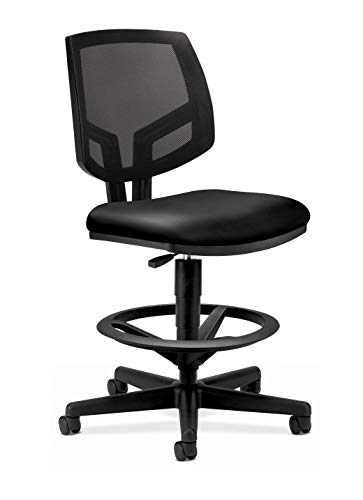 The HON Company SB11.T HON5715SB11T HON Volt Mesh Back Task Upholstered Adjustable Office Stool, Black (H5715)