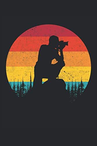 Fotografo di fotografia retrò vintage: Fotografo paesaggista Fotografia paesaggistica Fotografo naturalista Fotografi Regali Notebook a righe (formato A5, 15,24 x 22,86 cm, 120 pagine)