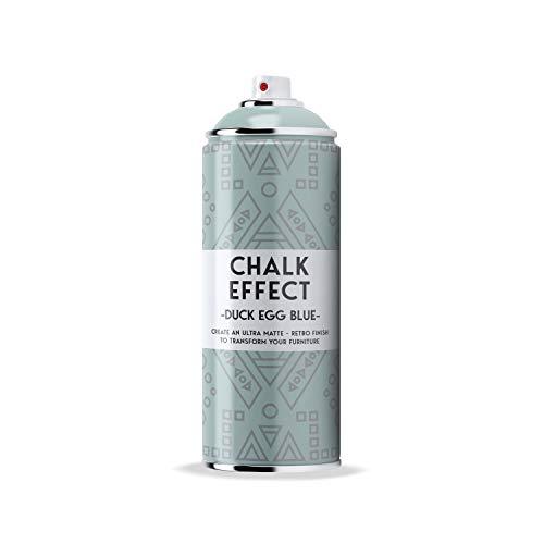 COSMOS LAC Chalk Effect Spray - Hochwertige Kreide-Sprühfarbe - perfekt für DIY Projekte (Duck egg blue)