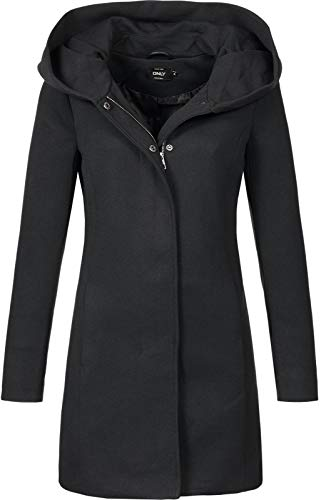 Only Onlsedona Light Coat Otw Noos Abrigo, Negro (Black Black), 34 (Talla del Fabricante: X-Small) para Mujer