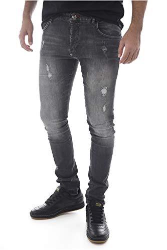PHILIPP PLEIN Jeans Uomo Super Straight Cut Bakeneko (31)