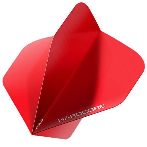 Hardcore XT Red Extra Dicke Standard Dart Flights - 5 Sätze pro Packung (15 Dart Flights insgesamt)