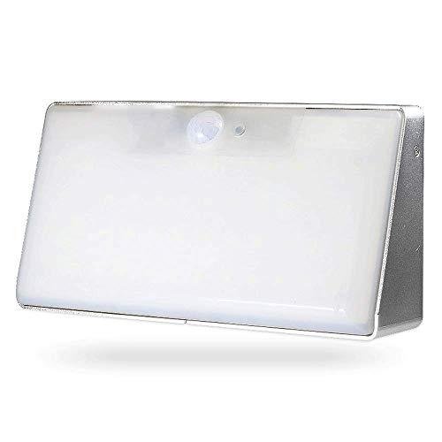 Iluminación de pared ligera para sala de estar. Luz impermeable al aire libre de iluminación de pared LED, aleación de aluminio de tratamiento de superficies, con sensor de movimiento, resistente a la
