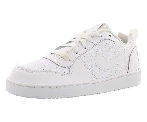 Nike Jungen Court Borough Low (Gs) Basketballschuhe, Blanco (White / White-White), 37.5 EU
