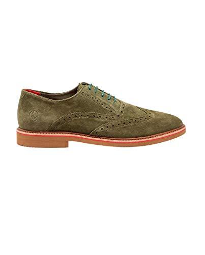 El Ganso Zapato Oxford Ante Verde