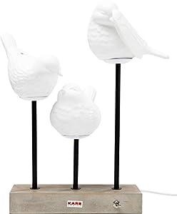 Kare Design Tischleuchte Birds LED, Tischlampe, Schreibtischlampe, Wohnzimmerlampe mit 3 Vögeln, LED-Lampen (H/B/T) 52x35x25cm