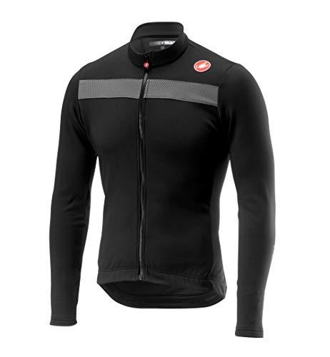 CASTELLI – Puro 3 Jersey FZ, Camiseta para Hombre, Hombre, Camiseta, 4518511, Light Black, L