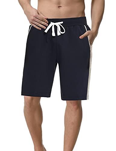 Sykooria Herren Kurze Jogginghose Schnell Trocknend Atmungsaktive Sport Shorts Baumwolle Trainingsshorts mit Tasche