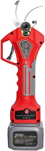 TYX-SS Tijeras de podar eléctricas inalámbricas SK5 Hoja de Acero Recargable Multifuncional portátil 3,2 cm de diámetro de Corte para la reparación de Flores de césped de Plantas-Rojo