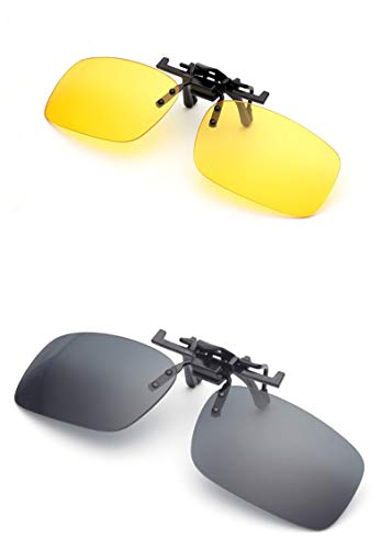 Teailee Store Polarized Flip Up Clip-on Sunglasses
