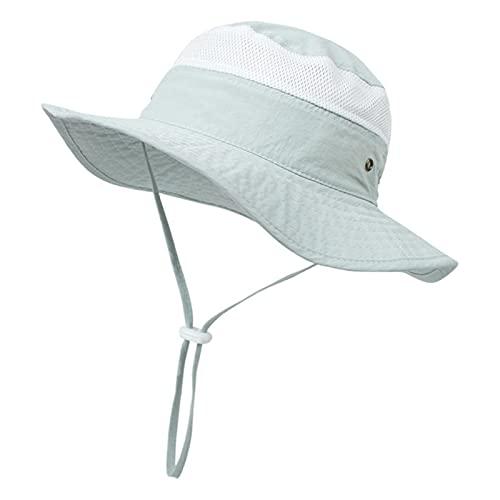 lvenyz Protector solar de los niños gorra de sol delgada boca plegable niños accesorios de playa Gran Cañón al aire libre pesca cap primavera bebé tocado niño