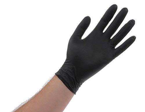 Atlantic Safety Products ASPBLXXL Black Lightning Gloves, 100-Pack, XX-Large, Extra Extra