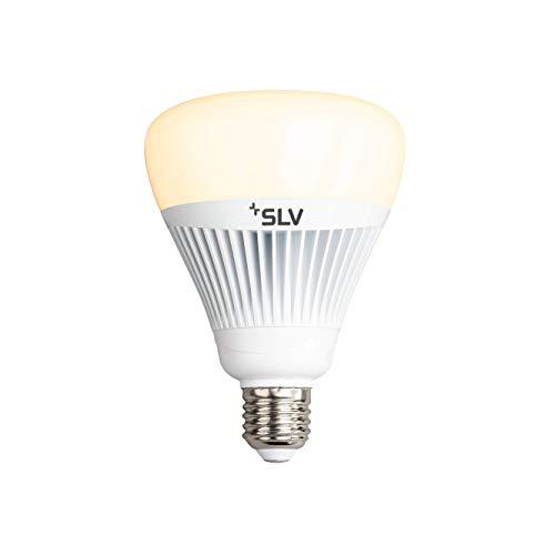 SLV PLAY Smart - Bombilla LED WiFi (regulable, E27, luz blanca cálida hasta luz diurna, 15 W equivalentes a 75 W, sin concentrador, Wi-Fi, compatible con Alexa y Google Home, 1055 lúmenes, CCT)
