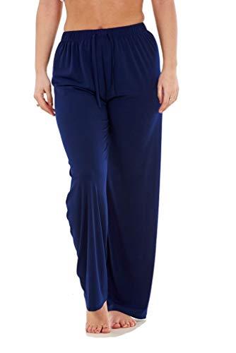 Apparel Ladies Women Trouser Elasticated Wide Leg High Waist ITY Regular Pants Black Red