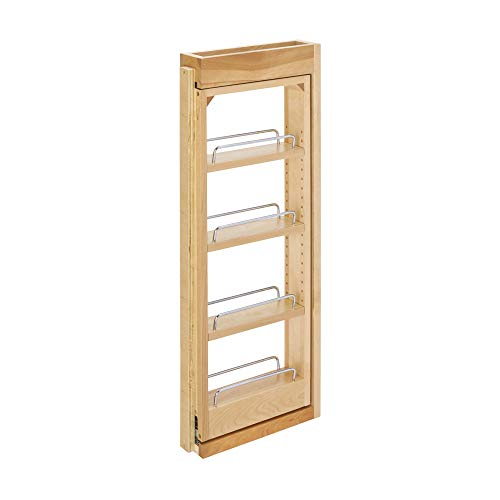 Rev-A-Shelf 432-WF-3C 3 x 30 Inch Wooden Adjustable Pull-Out Between Cabinet Wall Filler Kitchen Storage Organizer Unit