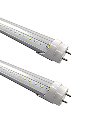 (2-Pack) Fulight Ballast-Bypass & UV Blacklight T8 LED Tube Light (Clear) - 3FT 36-Inch 14W, UV 390-395nm, F25T8, F30T12/BL, Double-End Powered, 85-265VAC - Fluorescent Replacement Bulbs