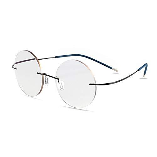 JJCFM leesbril, slimme kleurveranderende bril voor mannen en vrouwen, titanium ronde frameloze leesbril, kleurveranderende harslenzen, anti-oog vermoeidheid