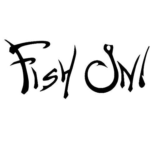 Empty 3 Stück Auto Aufkleber und Abziehbilder 15.2CM * 6.1CM Fisch auf wasserdicht Selbstklebend für Laptop Skateboard Gitarre Moto Car Bike DIY Party Patches Abziehbild-Schwarz