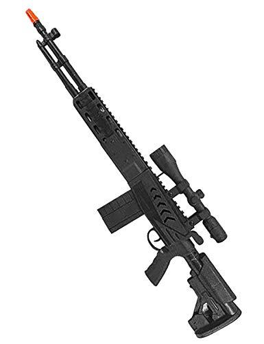 Vegaoo - Spiezeug-Gewehr Kostümzubehör für Kinder schwarz 71 cm - Einheitsgröße
