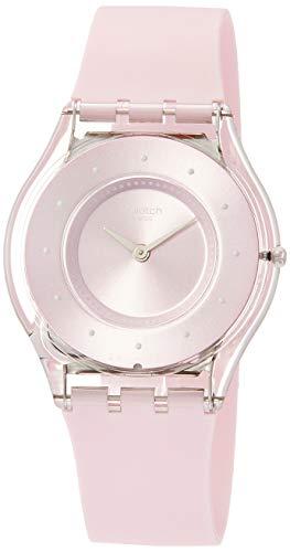 Swatch Reloj Analógico para Mujer de Cuarzo con Correa en Silicona SFE111