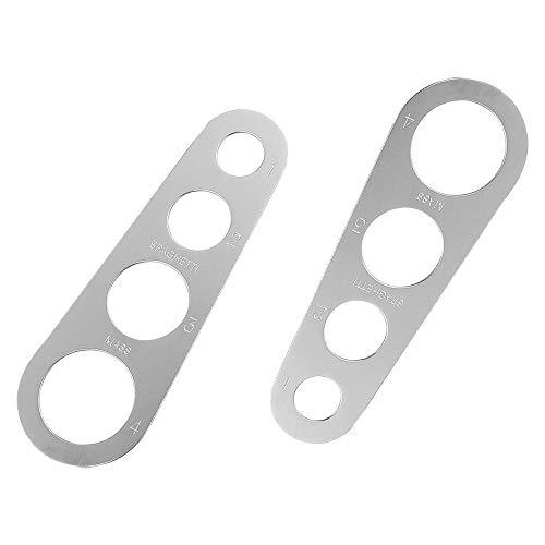 2 Pcs Dosaspaghetti in acciaio inox, utensile da cucina, per misurare la pasta lunga, per spaghetti, con 4 fori di misurazione (misura fino a una porzione per quattro adulti)