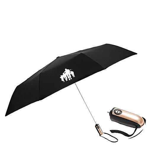 Paraplu dubbele oversized zakparaplu, golfscherm en winddicht, baldakijn automatisch waterdichte zonwering zeer groot
