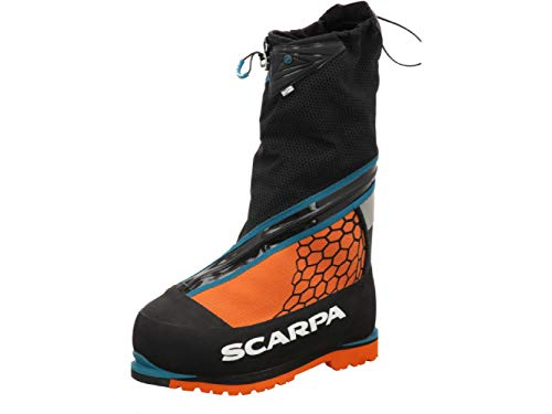 Scarpa Phantom 8000 HD, Botas de montaña Hombre, Black-Bright Orange Hdry HAR8 0 Gravity Lite New, 47 EU