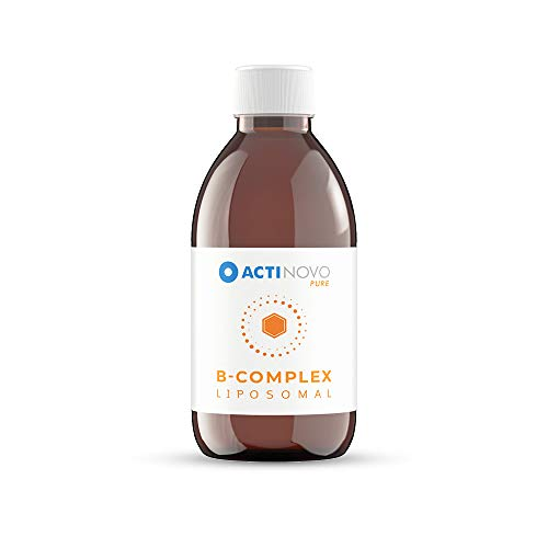 Vitamin B-Komplex | 50 Tagesdosen à 5 ml enthalten B1, B2, B3, B5, B6, Biotin, Folsäure und B12 | Vegan | 250 ml | Hochdosiert & laborgeprüft | Wirksamer als Tabletten & Kapseln | Liposomal