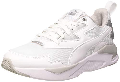 PUMA Damen X-RAY LITE Wmn's METALLIC Sneaker, Weiß Weiß Silber, 39 EU