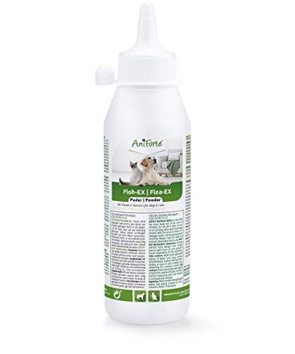 AniForte Floh-EX Pulver für Hunde & Katzen 250 ml - Effektive Abwehr gegen Flöhe und bei Floh-Befall, Diatomeernde & Kieselgur gegen Schädlinge & Parasiten