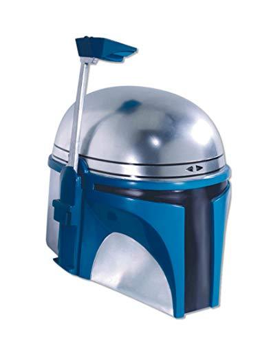 Rubie's Men's Star Wars Deluxe Injection Molded Adult 2-Piece Jango Fett Mask, Multicolor, One Size