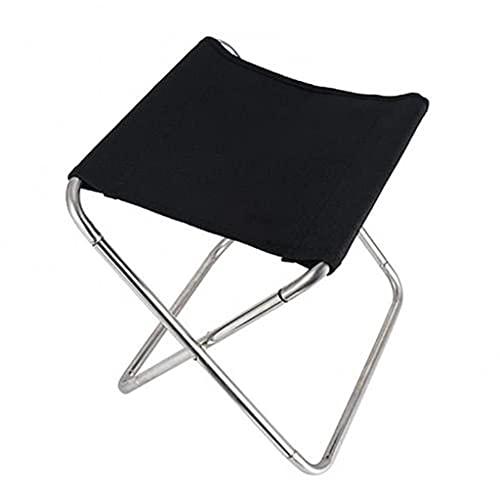 Taburete plegable al aire libre, ligero, portátil, plegable, para camping, picnic, pesca, silla de playa, muebles de exterior (color gris) ZZ666 (color: negro)