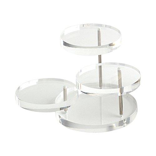 ASOSMOS - Espositore per gioielli con 3 vassoi in acrilico trasparente, per orecchini, bracciali, collane, espositore e Acrilico, colore: Trasparente, cod. ASOS-111
