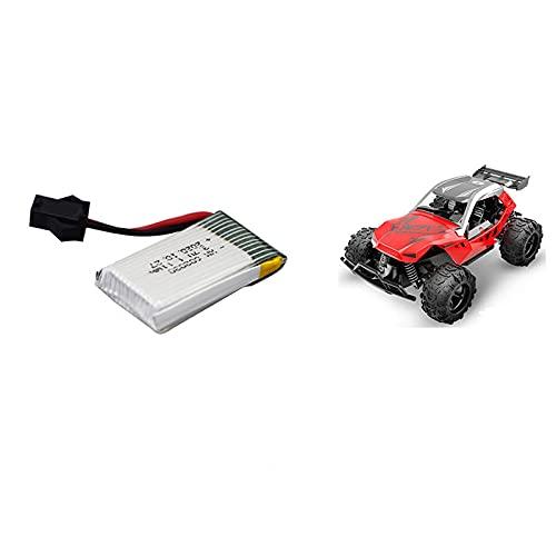 TinaDeer 3,7 V 300 mAh 602030 Lithiumbatterie, Lipo-Akku Kompatibel mit 9610E 9604E RC Racing Fernbedienung Auto Kinderspielzeug Auto Ersatzbatterie (Grau)
