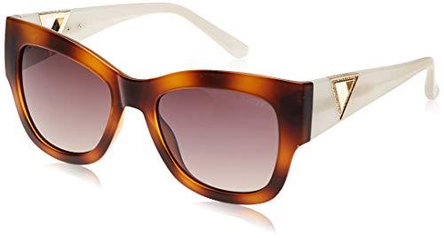 Guess GU7495S-5456G Gafas de sol, Havana/Brown Mirror, 54 para Mujer