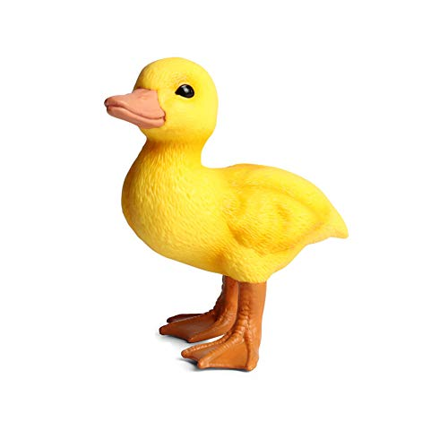 4 Inches Resin Duck Figurine Yellow Duck Figurine Miniature Duck Simulated Poultry Farm Duck Wild Duck Model Figurine Birthday Gift Decorations for Fairy Garden Home Office (Yellow)